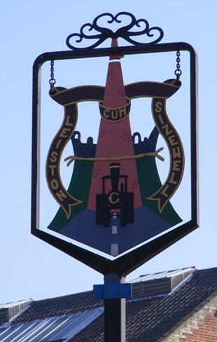 Town sign Leiston
