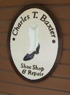 Charles Thomas Baxter's shop sign