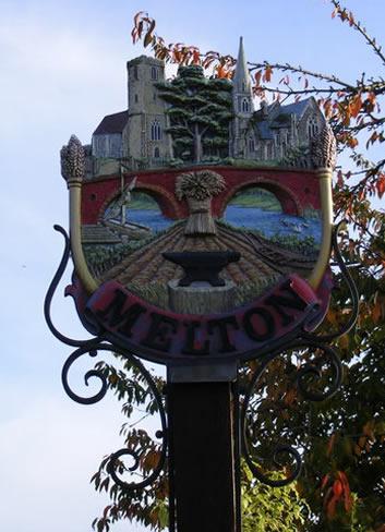 Village sign Melton
