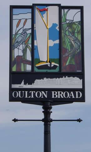 Village sign Oulton Broad
