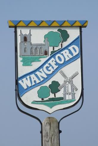 Village sign Wangford