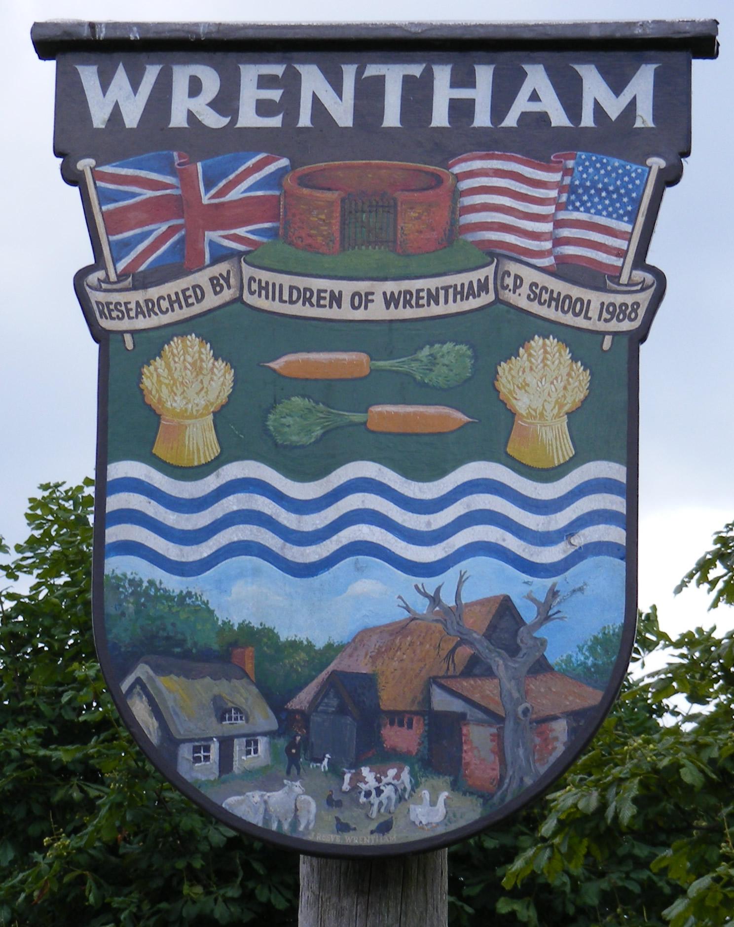 Village sign Wrentham